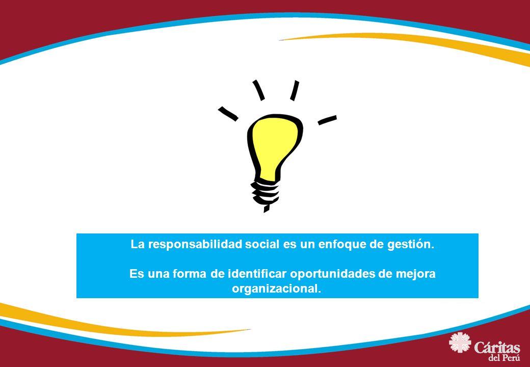 La responsabilidad social es un enfoque de gestión.