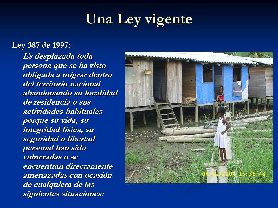 Una Ley vigenteLey 387 de 1997: