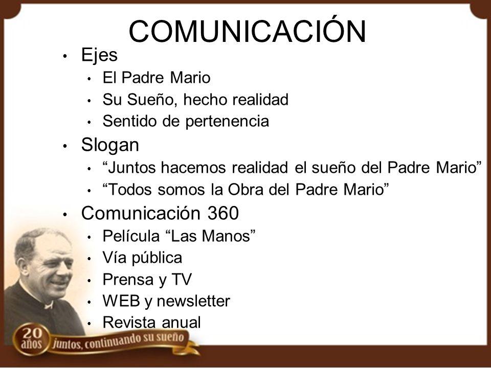 COMUNICACIÓN Ejes Slogan Comunicación 360 El Padre Mario
