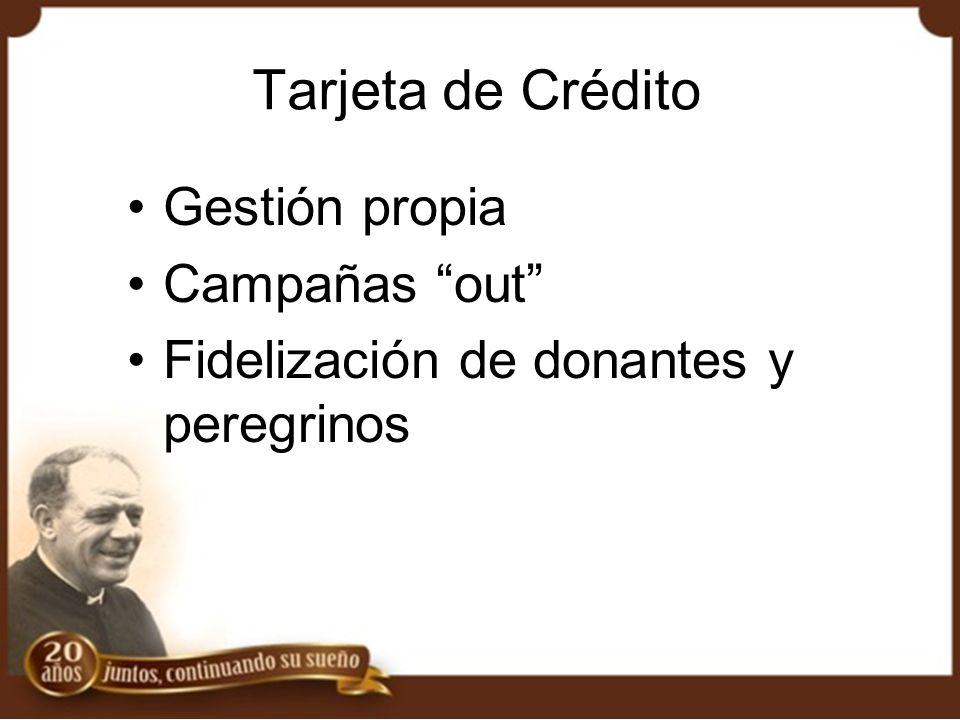 Tarjeta de Crédito Gestión propia Campañas out