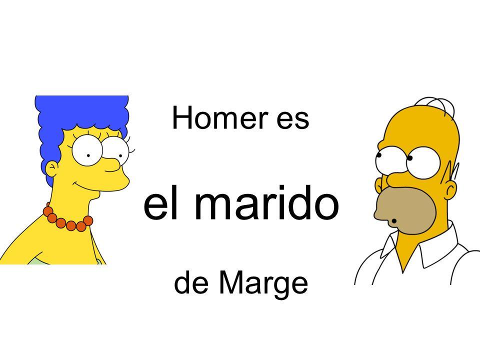 Homer es el marido de Marge
