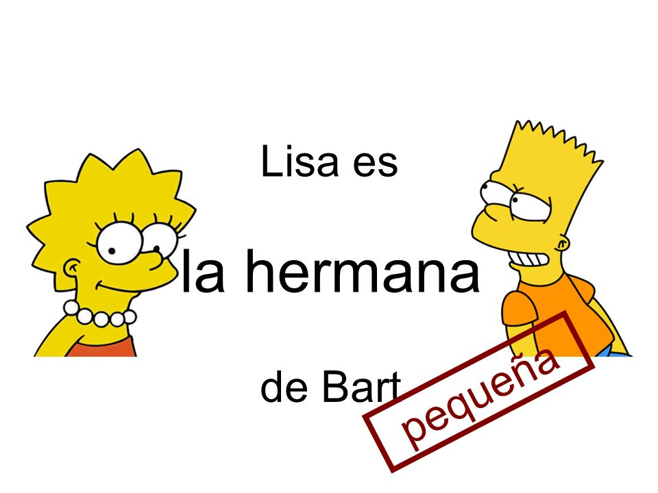 Lisa es la hermana de Bart pequeña