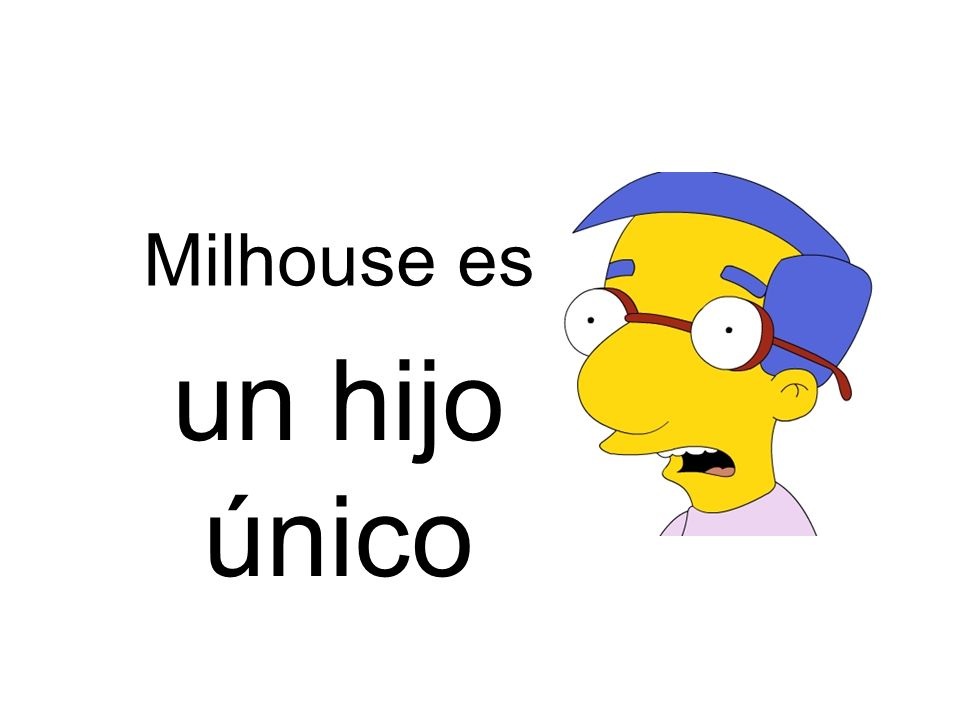 Milhouse es un hijo único