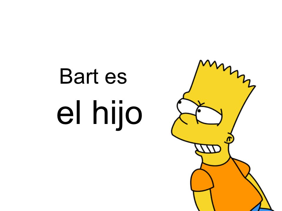 Bart es el hijo