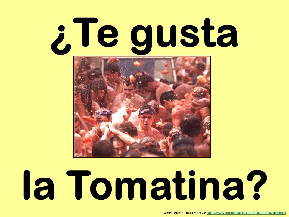 ¿Te gusta la Tomatina ©MFL Sunderland 2006 CS http://www.sunderlandschools.org/mfl-sunderland