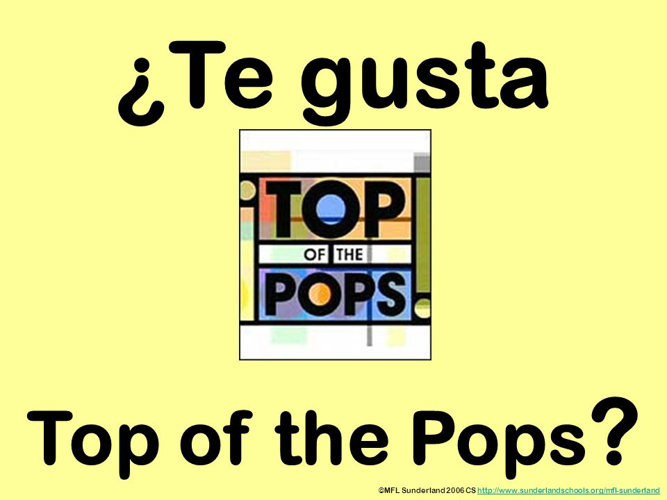 ¿Te gusta Top of the Pops