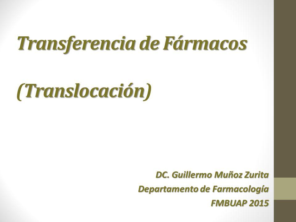 Transferencia de Fármacos (Translocación)