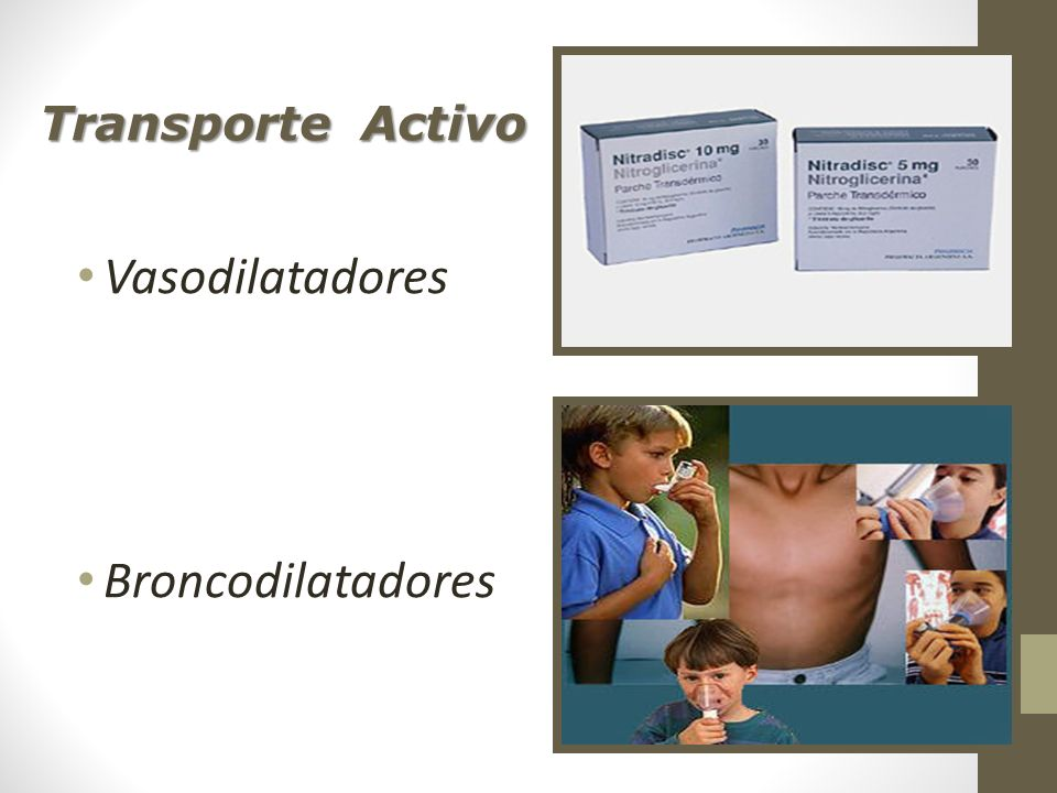 Transporte Activo Vasodilatadores Broncodilatadores