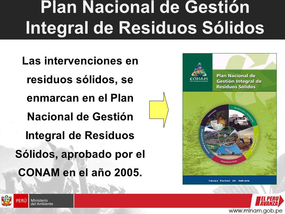 Plan Nacional de Gestión Integral de Residuos Sólidos