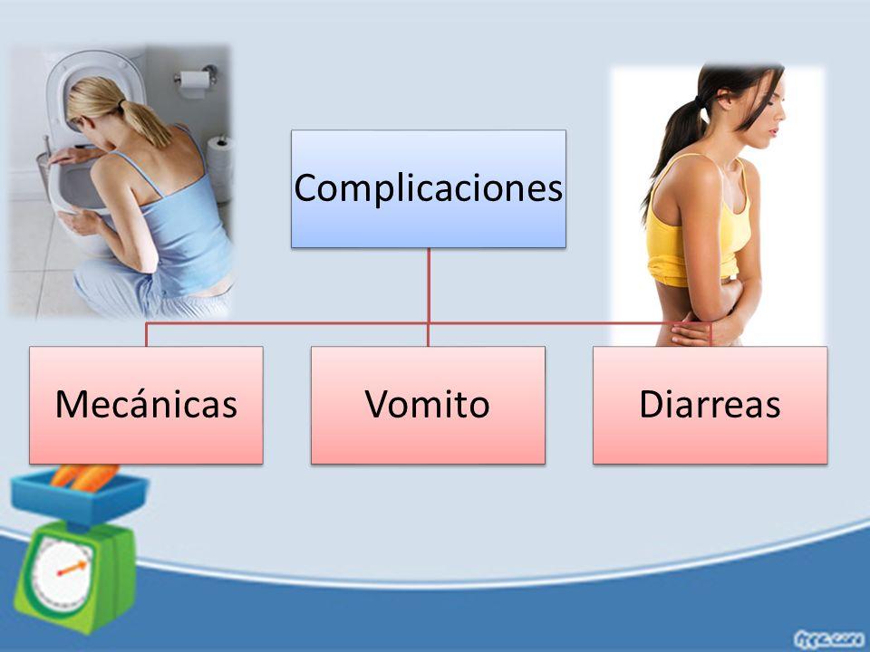 Complicaciones Mecánicas Vomito Diarreas