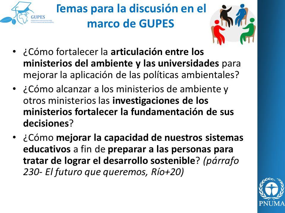 Temas para la discusión en el marco de GUPES