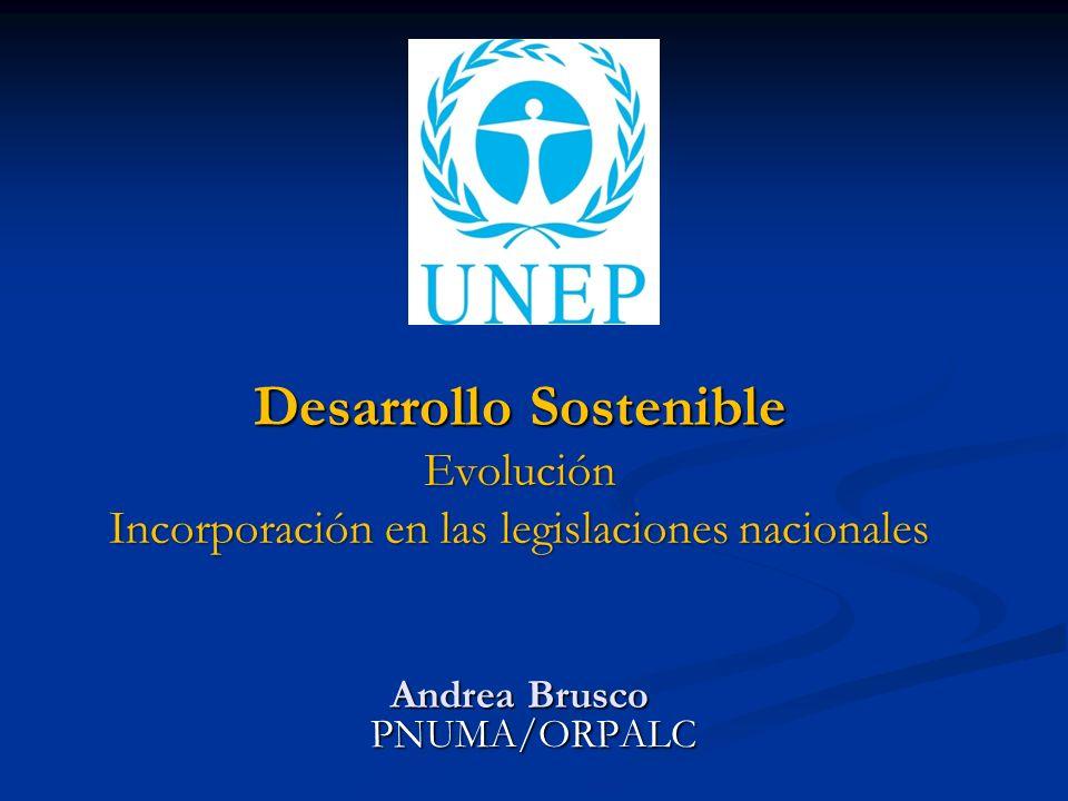 Desarrollo Sostenible Evolución Incorporación en las legislaciones nacionales Andrea Brusco