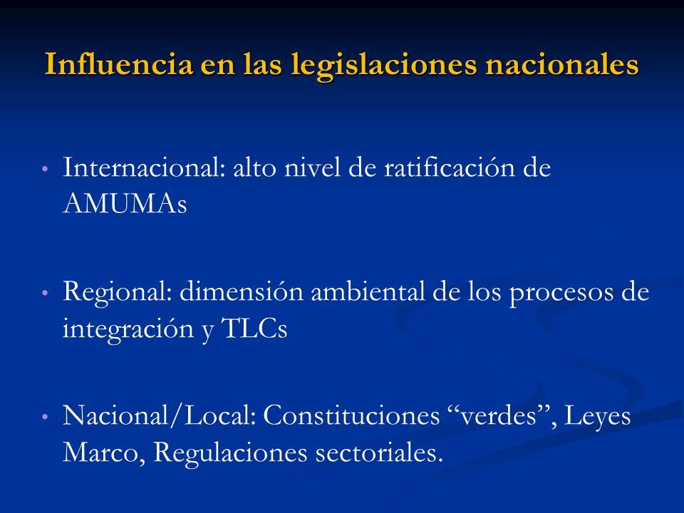 Influencia en las legislaciones nacionales