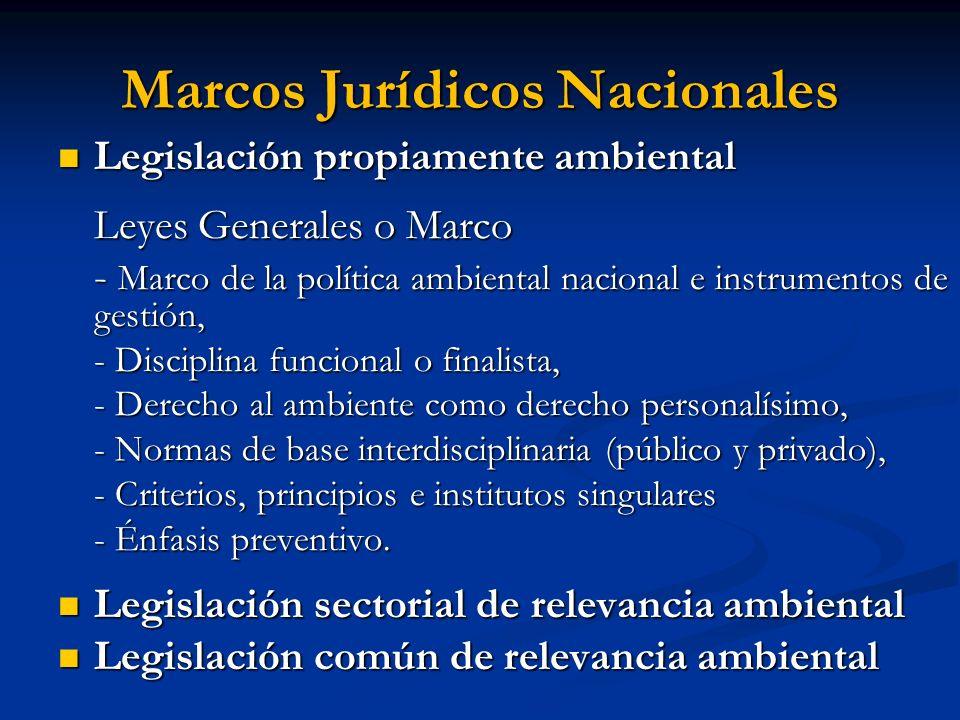 Marcos Jurídicos Nacionales