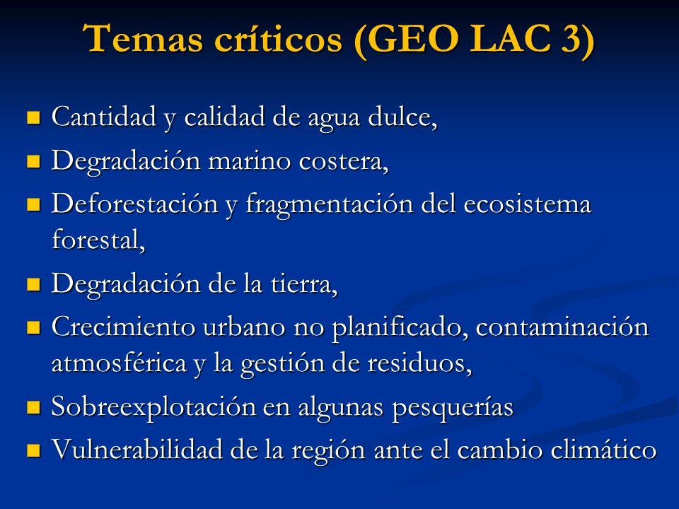 Temas críticos (GEO LAC 3)