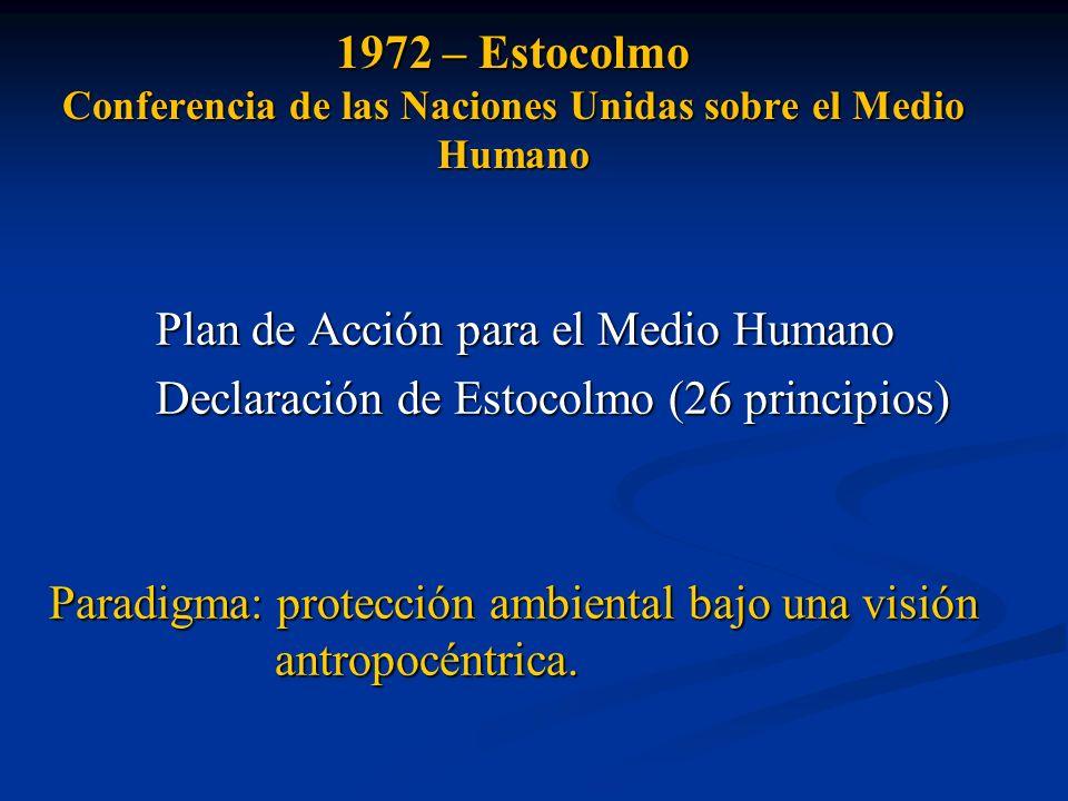 1972 – Estocolmo Conferencia de las Naciones Unidas sobre el Medio Humano
