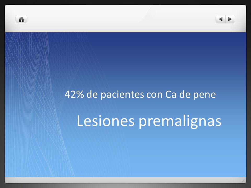 42% de pacientes con Ca de pene
