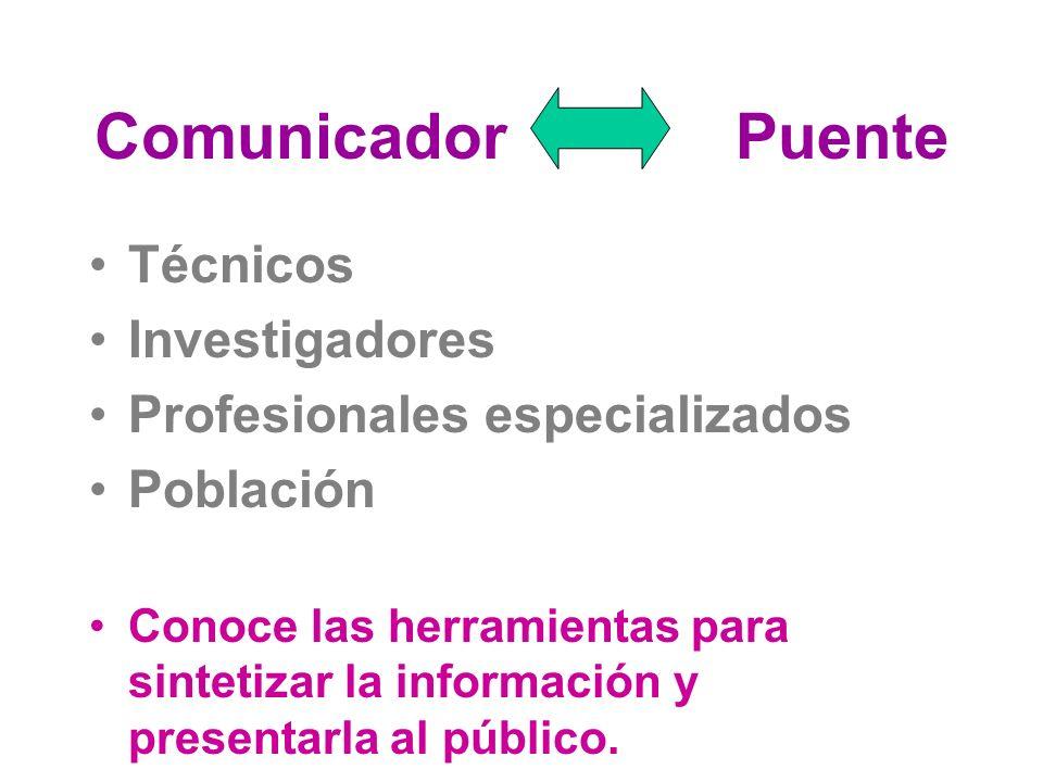 Comunicador Puente Técnicos Investigadores