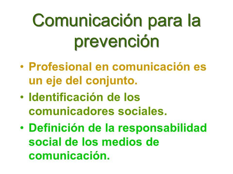 Comunicación para la prevención