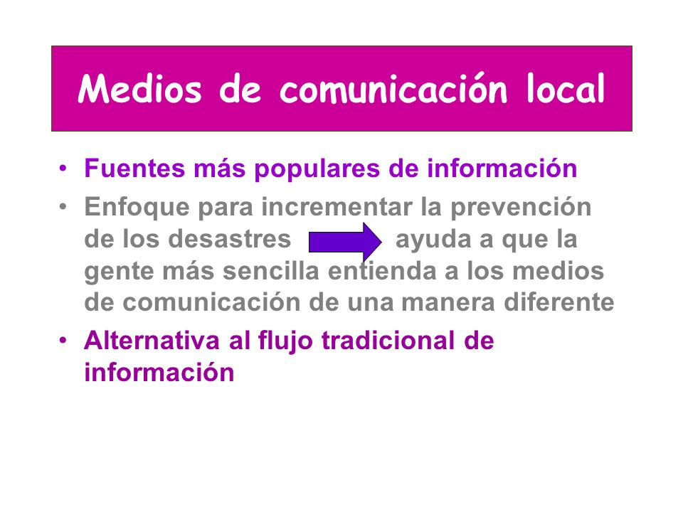 Medios de comunicación local