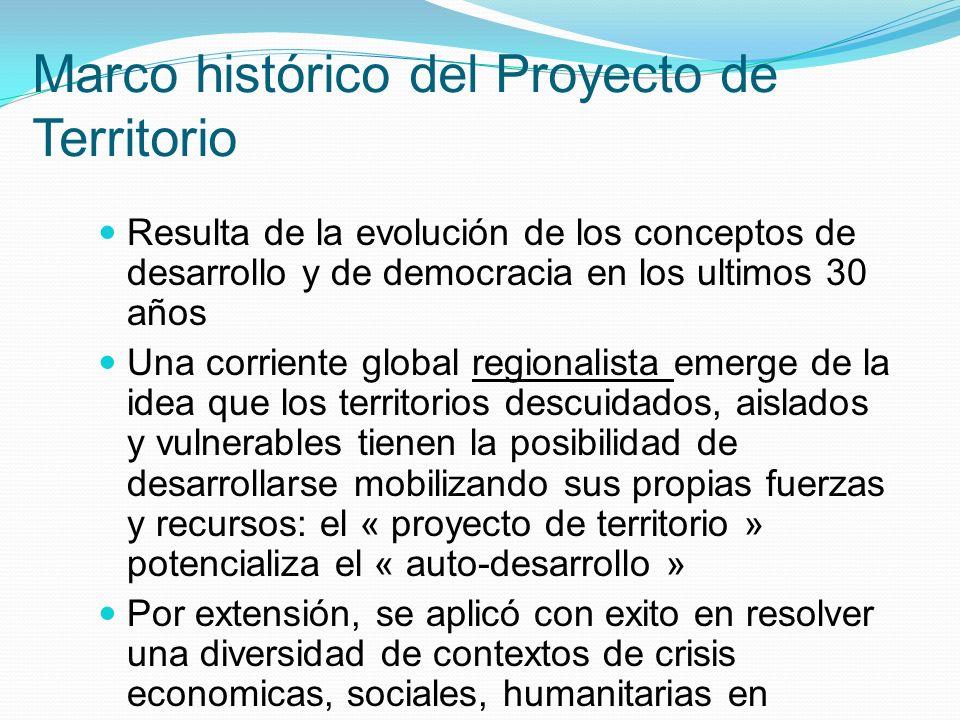 Marco histórico del Proyecto de Territorio