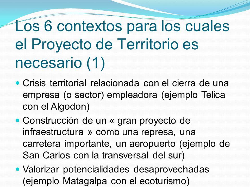Los 6 contextos para los cuales el Proyecto de Territorio es necesario (1)