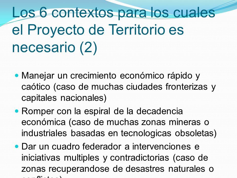 Los 6 contextos para los cuales el Proyecto de Territorio es necesario (2)