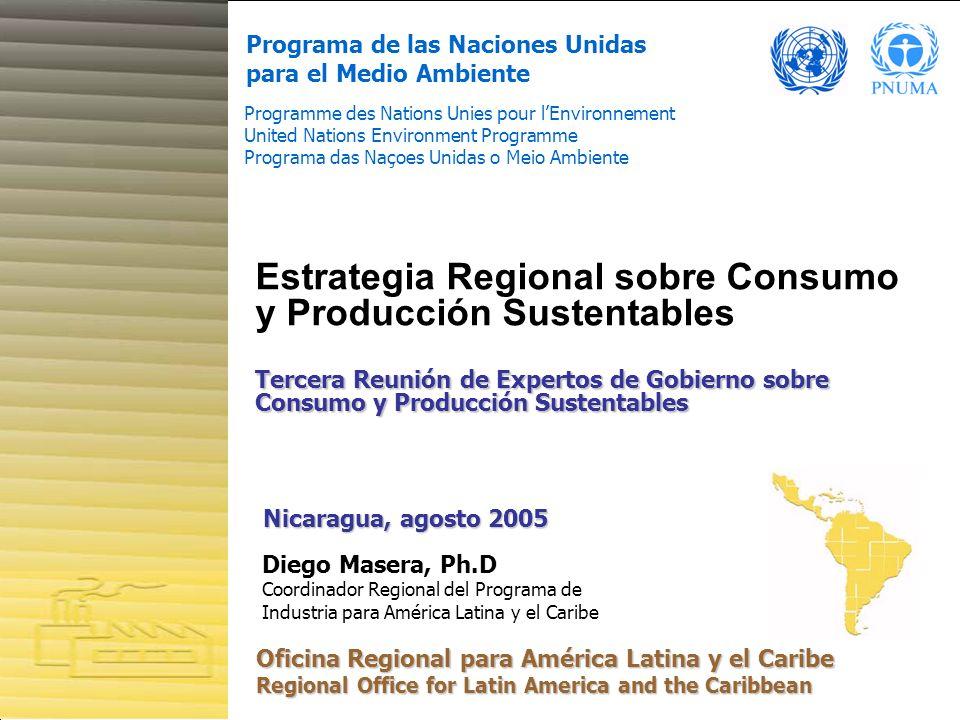 Estrategia Regional sobre Consumo y Producción Sustentables