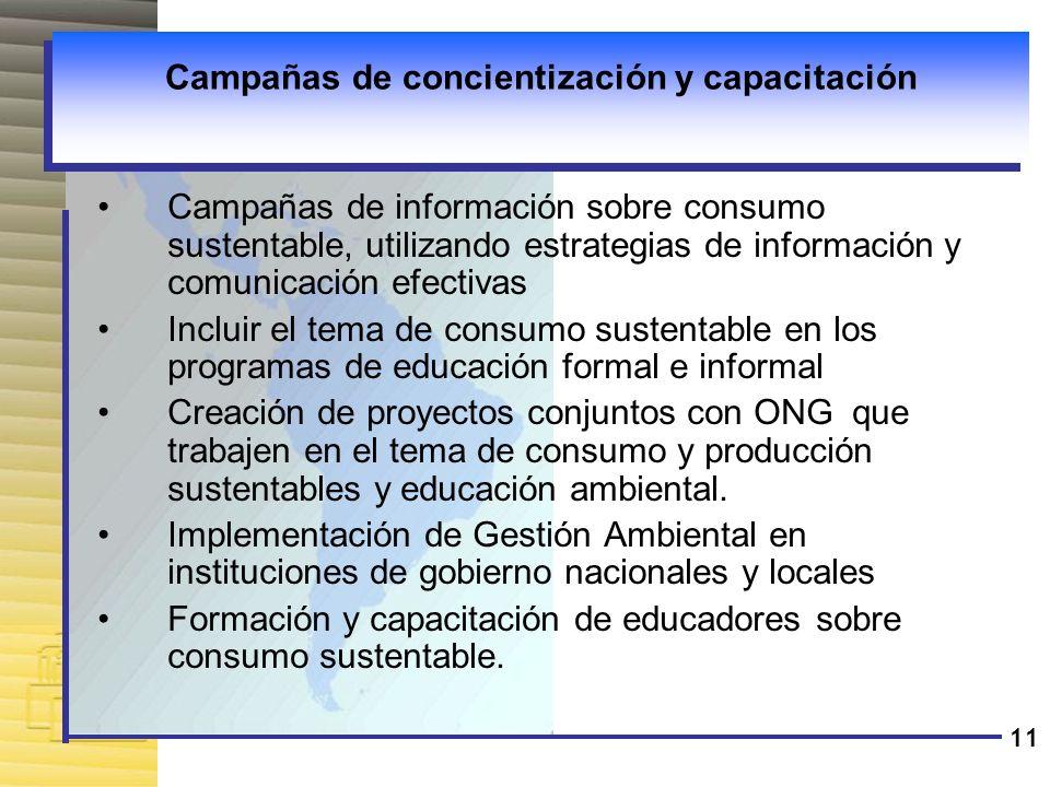 Campañas de concientización y capacitación