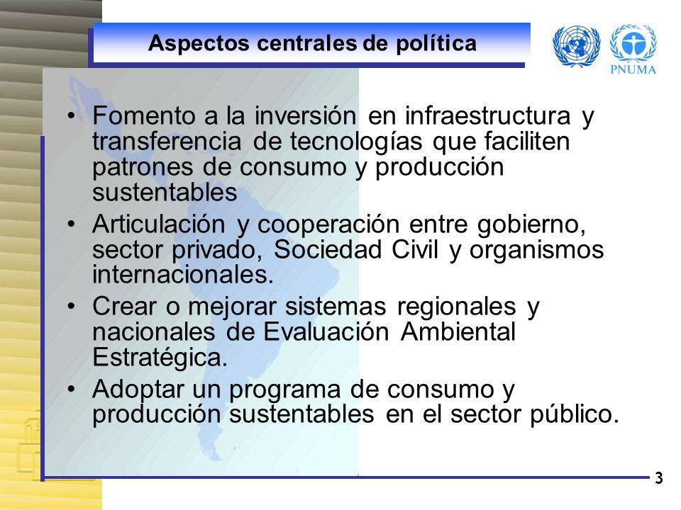 Aspectos centrales de política