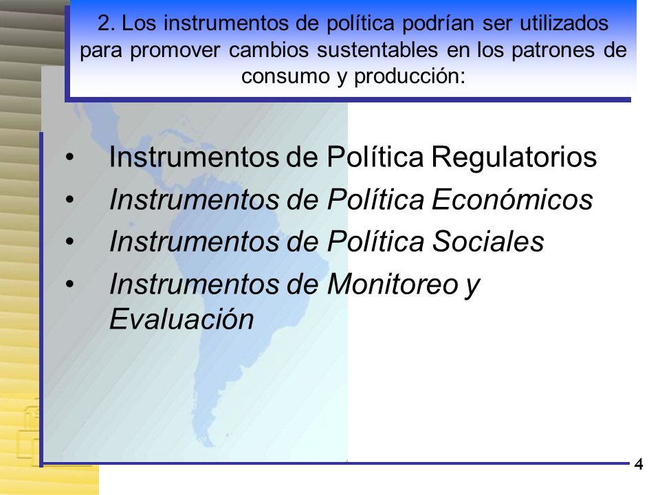 Instrumentos de Política Regulatorios