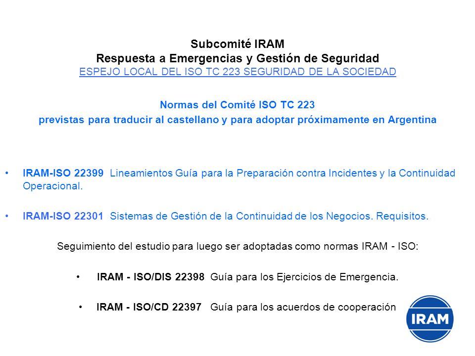 Normas del Comité ISO TC 223