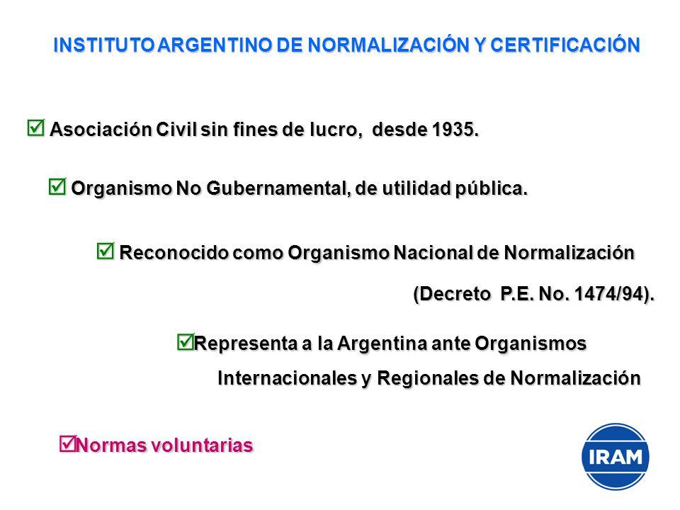 INSTITUTO ARGENTINO DE NORMALIZACIÓN Y CERTIFICACIÓN