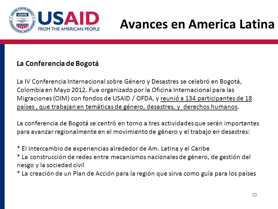 Avances en America Latina