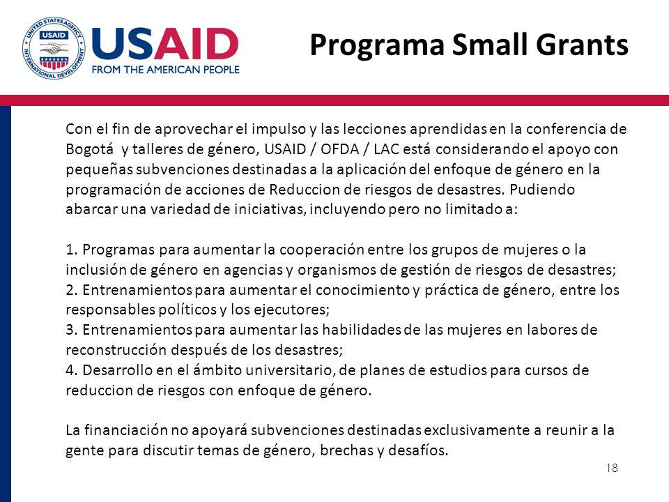 Programa Small Grants