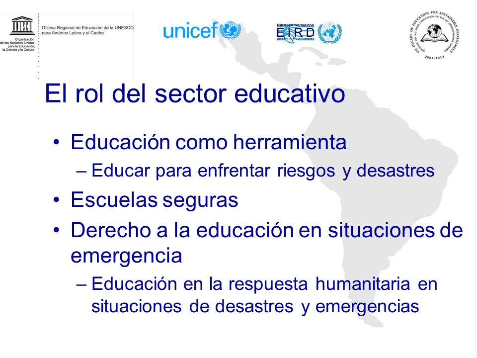 El rol del sector educativo