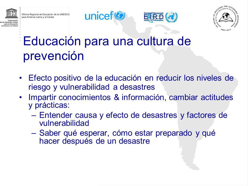 Educación para una cultura de prevención