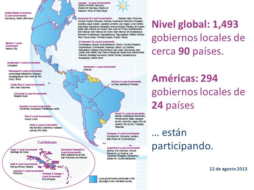 Nivel global: 1,493 gobiernos locales de cerca 90 países