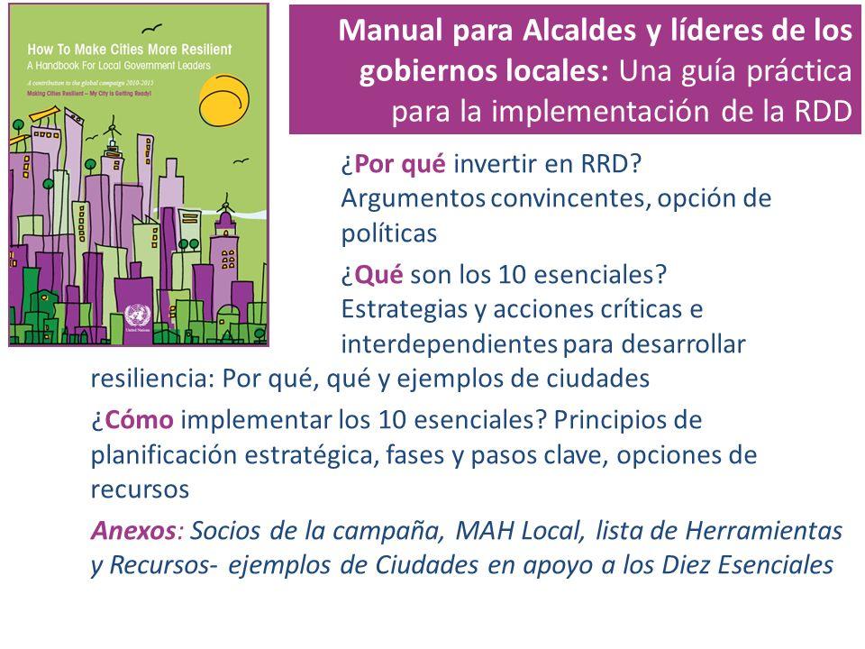 Manual para Alcaldes y líderes de los gobiernos locales: Una guía práctica para la implementación de la RDD