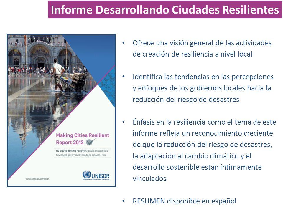 Informe Desarrollando Ciudades Resilientes