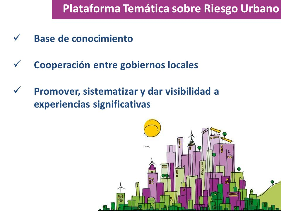 Plataforma Temática sobre Riesgo Urbano