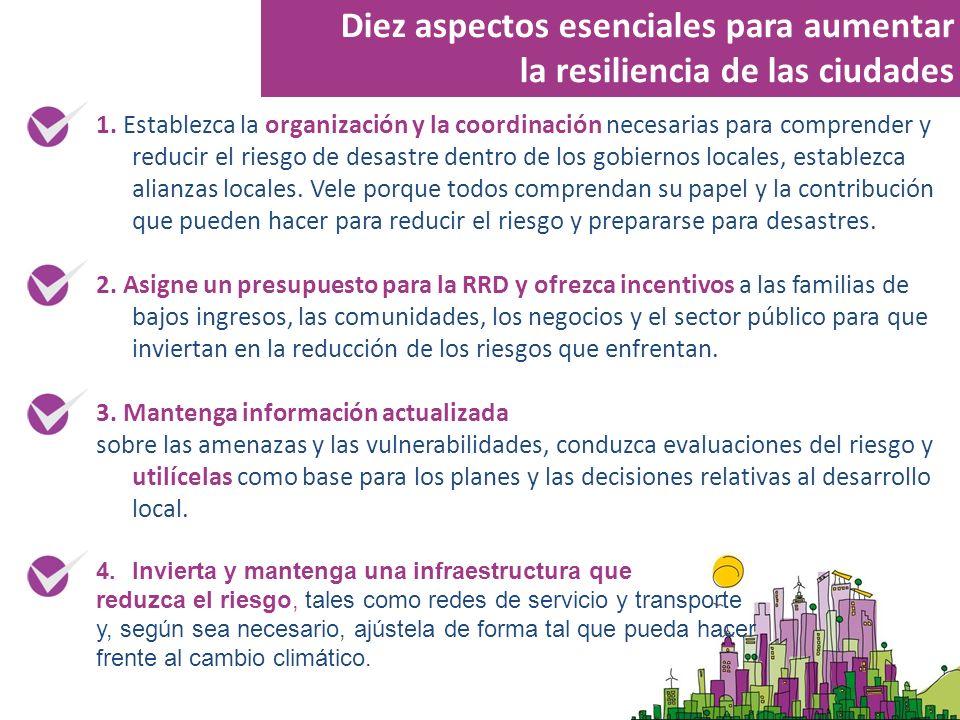 Diez aspectos esenciales para aumentar la resiliencia de las ciudades