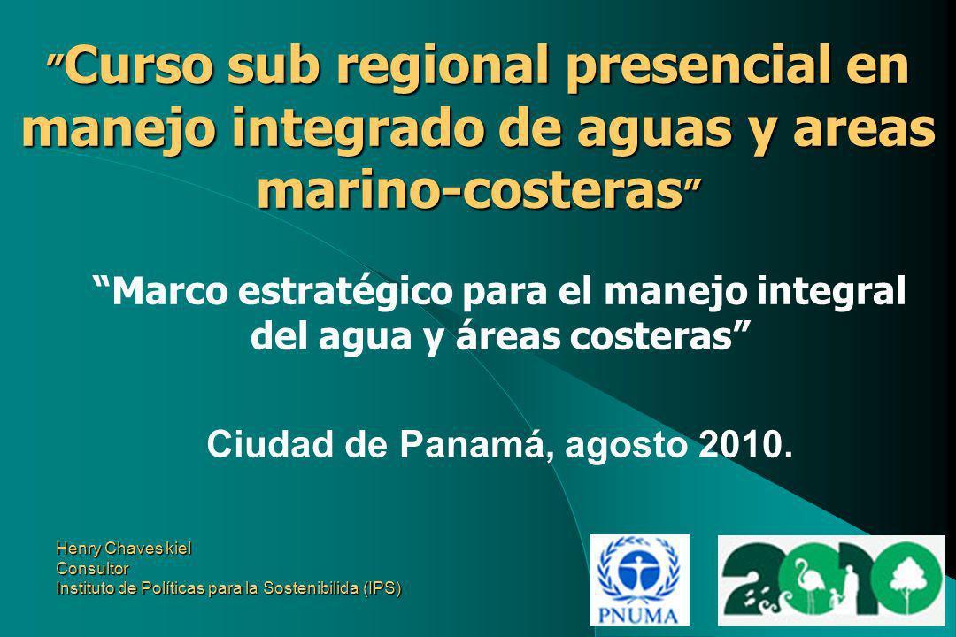 Marco estratégico para el manejo integral del agua y áreas costeras