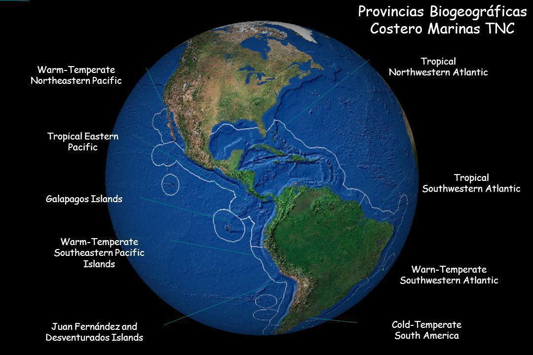 Provincias Biogeográficas Costero Marinas TNC