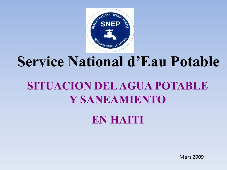 Service National d'Eau Potable