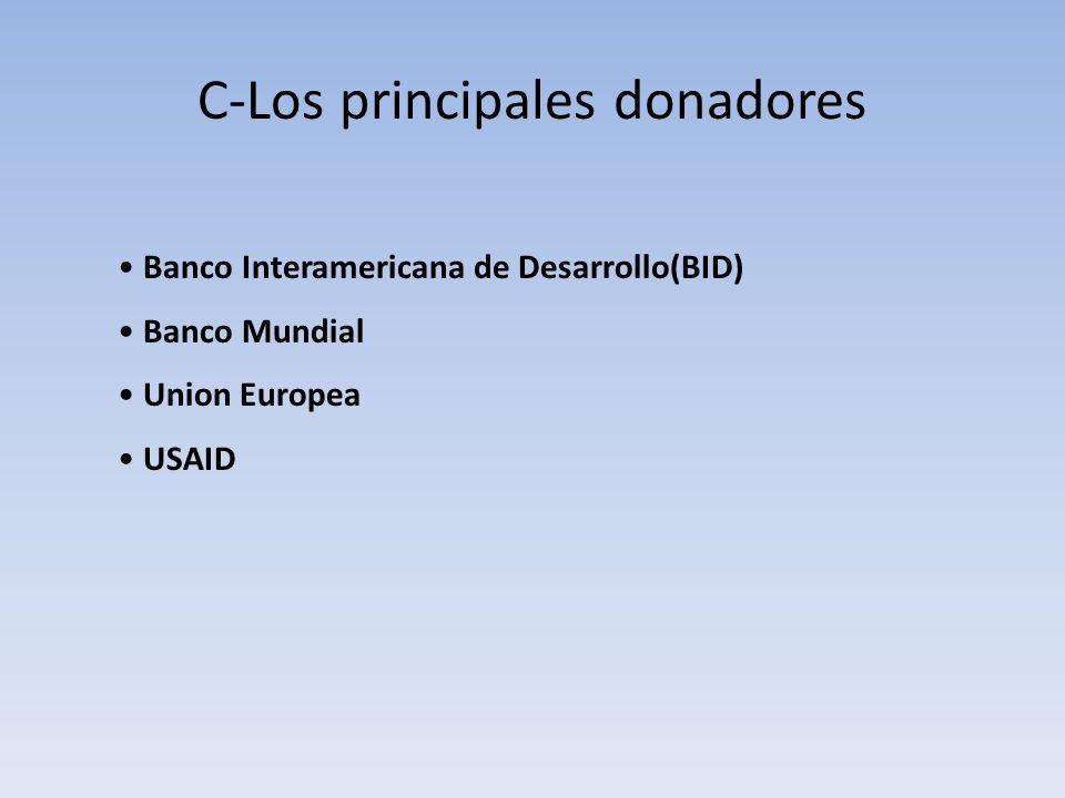 C-Los principales donadores