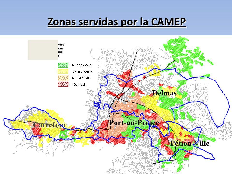Zonas servidas por la CAMEP