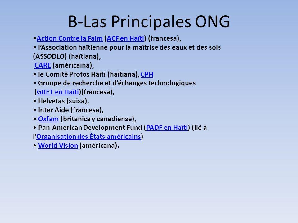 B-Las Principales ONG Action Contre la Faim (ACF en Haïti) (francesa),