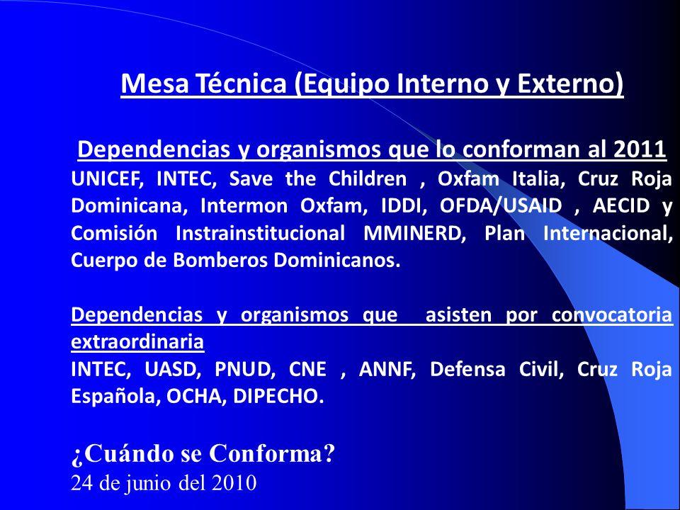 Mesa Técnica (Equipo Interno y Externo)