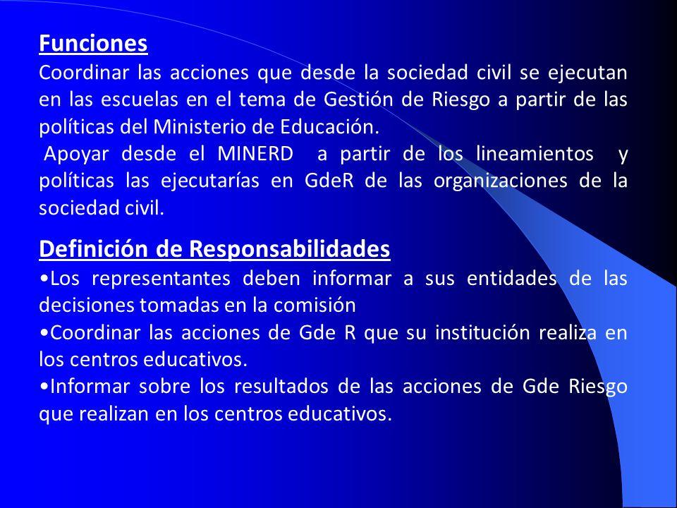 Definición de Responsabilidades